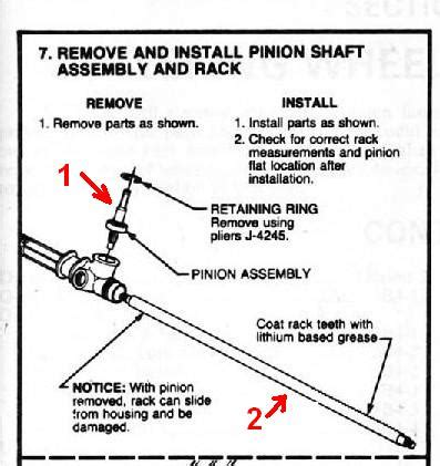rack and pinion illustration rack and pinion installation