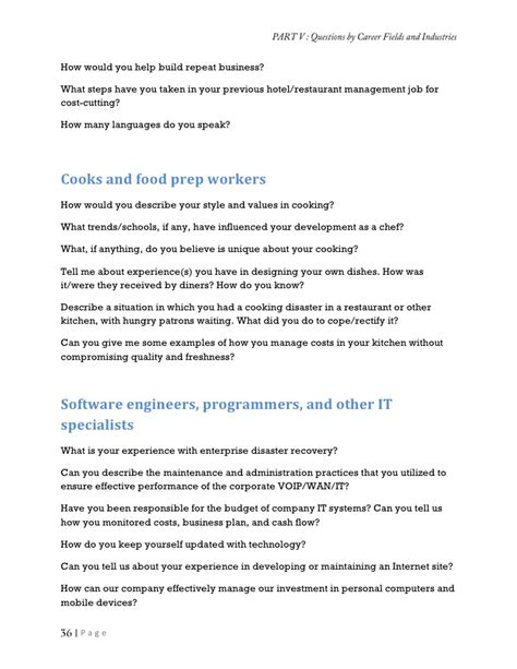 Software To Design Kitchen by Collection Of Job Interview Questions And The Answers