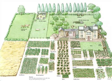 1 Acre Homestead Layout Dream Home Sufficient Living Layout Of Garden