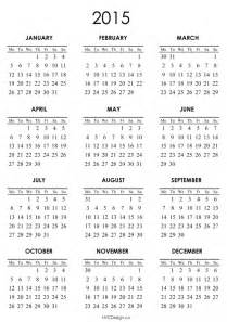 calendar 2015 only printable yearly free calendar template