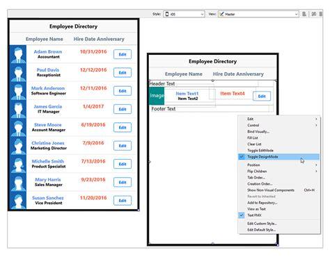 ui pattern add item to list introducing the listview item designer in rad studio 10 1