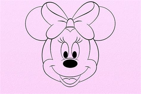 Line Drawing Of Minnie Mouse