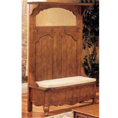 Antique Hall Tree With Storage Bench And Mirror 187 Woodworktips