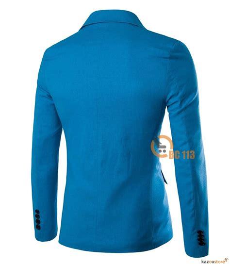 Spesial Tahun Baru Size S Top Slim Fitting Korset Pengecil detil produk casual blazer pria slim fit bc113 biru kazoustore