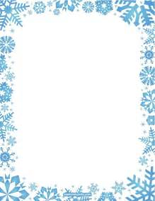 printable snowflake stationery and writing paper free pdf