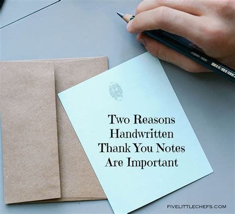 Thank You Letter Handwritten Two Reasons Handwritten Thank You Notes Are Important Five Chefs