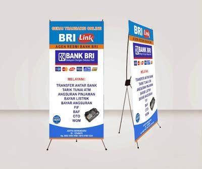 cara membuat x banner online download dan cara membuat x banner agen brilink dengan
