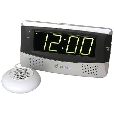 bed shaker alarm sonic alert alarm clock with bed shaker