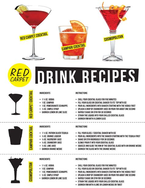 cocktail drinks recipe easy red carpet drink recipes red carpet tips