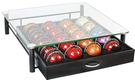 Tiroir Capsule Nespresso by Tempered Glass Nespresso Vertuoline Storage Drawer