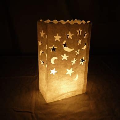 star moon paper luminaries luminary lantern bags path
