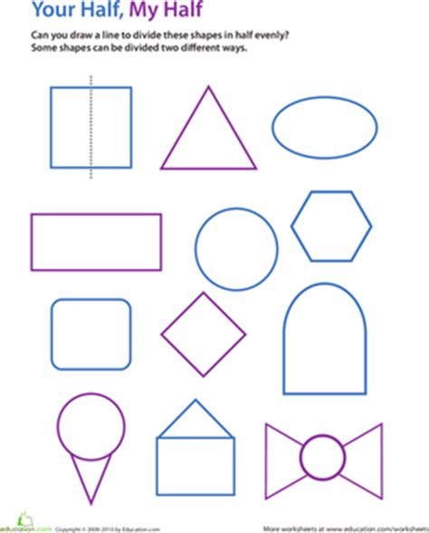 Lines Of Symmetry Worksheet by Draw The Line Of Symmetry Worksheet Education