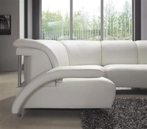 white modern leather sectional modern white leather sectional sofa