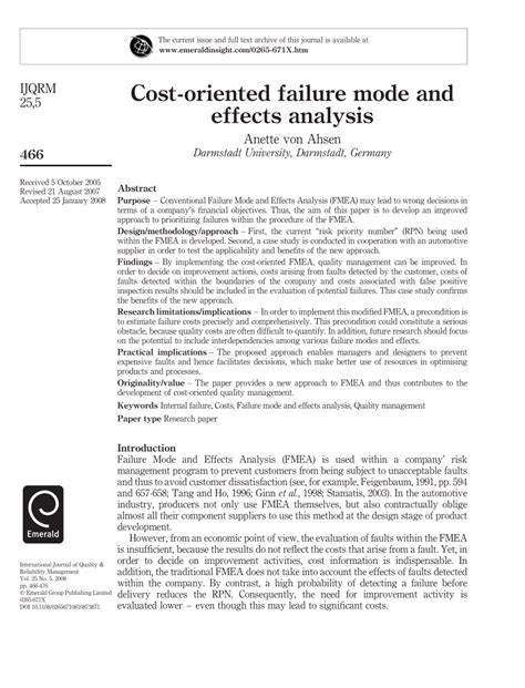 design failure mode effect analysis pdf cost oriented failure mode and effects pdf download
