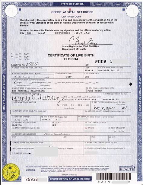 Are Certificates Record In Florida Number Of Live Birth Certificate Pictures To Pin On Pinsdaddy