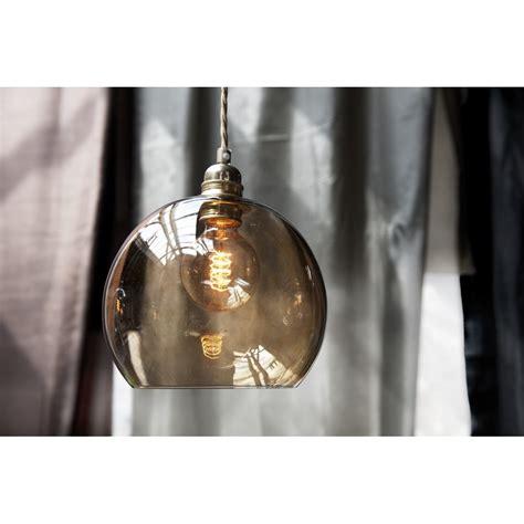 Glass Ceiling Lights Glass Pendant Light Fitting Rowan Medium Chest Nut Brown Glass Globe