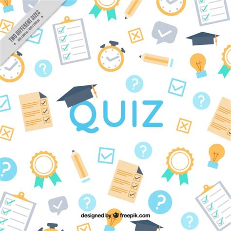 pattern for quiz competition quiz background with flat objects vector free download
