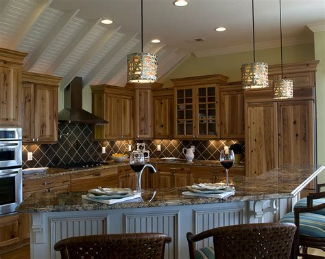 Kitchen Cabinet Hardware For Cabin Hickory Cabinets Kitchen Rustic With Kitchen Island Frame