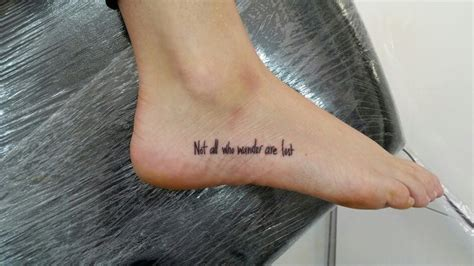 letter tattoo sentences tattoo foot quotes tattoo