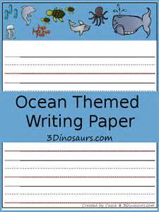 ocean writing paper free ocean themed writing paper 3 dinosaurs pics photos kids writing paper puzzle sea animals school