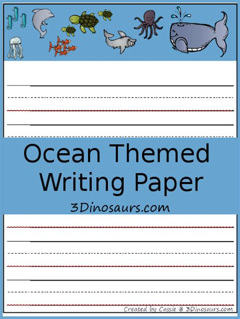 themed writing paper free worksheets 187 pre k handwriting paper free math