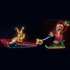 animated holographic santa light sculpture animated waving santa outdoor yard display large outdoor decorations
