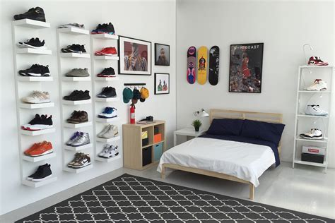 ikea bedroom displays ikea and hypebeast design the ideal sneakerhead bedroom hypebeast