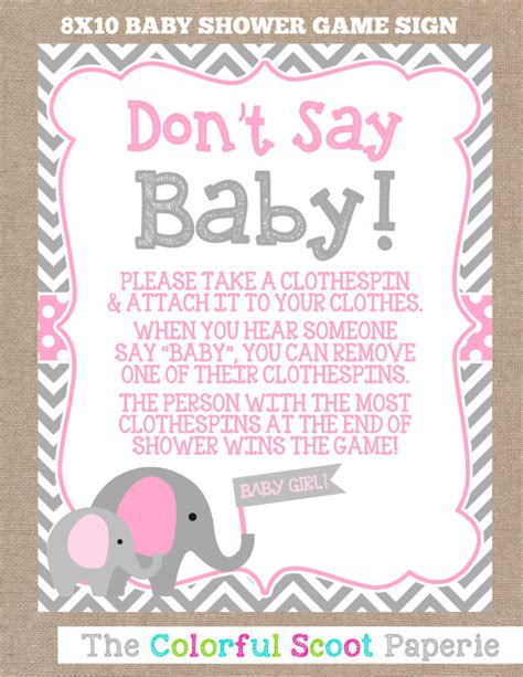 girl baby shower game ideas instant download elephant baby shower don t by