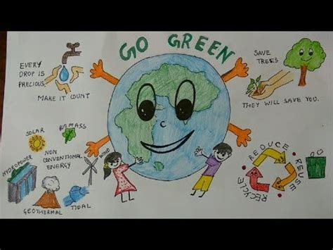 Go Green Save Our World go green world environment day connecting to
