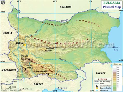 netherlands mountains map physical map of bulgaria