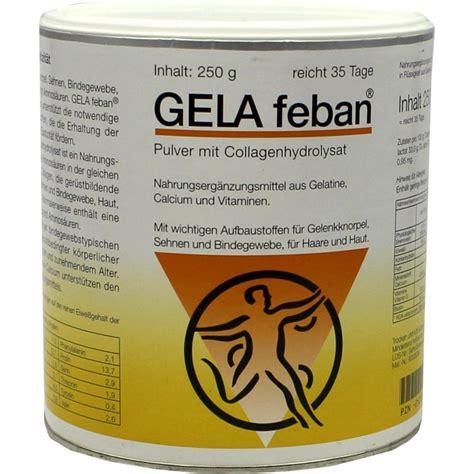 gela feban pulver m gelatinehydrolysat plus 250 g - Geländer Bestellen