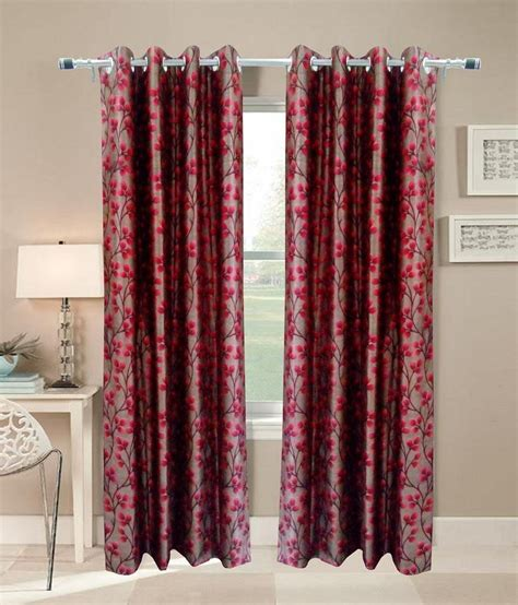 curtains from india homefab india polyester window curtain set of 2 buy