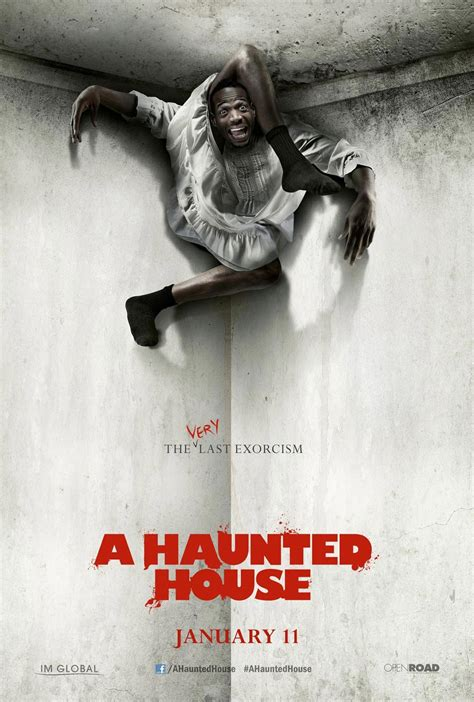 a house a haunted house poster 3