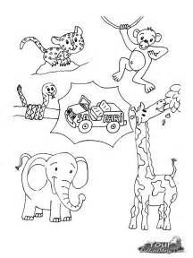 free coloring pages of jungle animals worksheet