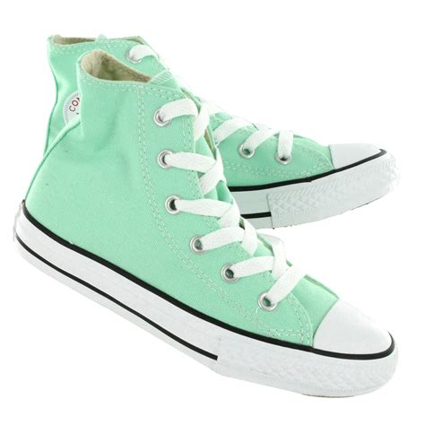 Convers Higt converse high top in seafoam green let s quot converse quot converse high