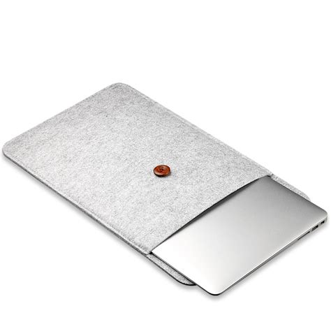 116 Inch Ultra Thin Laptop Sleeve Cover Grey felt button style sleeve laptop ultrabook 12 inch gray jakartanotebook
