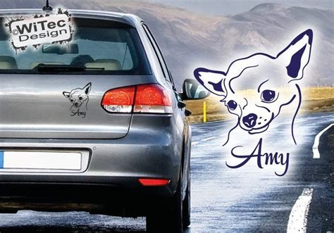 Hundeaufkleber Auto by Chihuahua Autoaufkleber Name Hundeaufkleber Auto Aufkleber