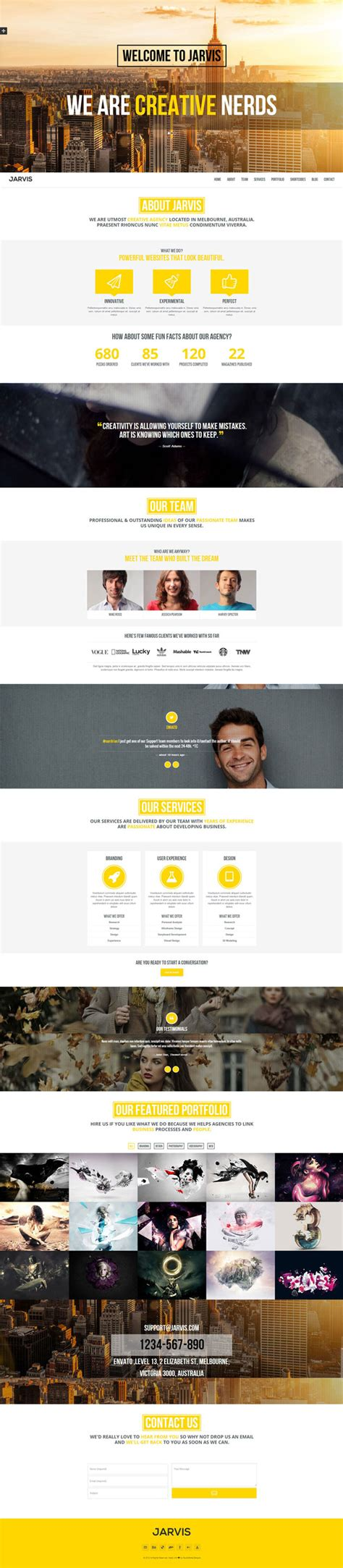 themeforest jarvis jarvis one page parallax theme