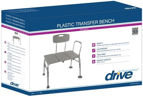 chs weight bench drive plastic transfer bench with adjustable back by drive