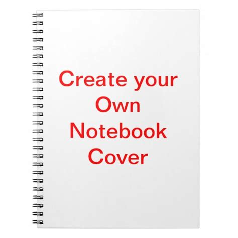create your own notebook cover zazzle