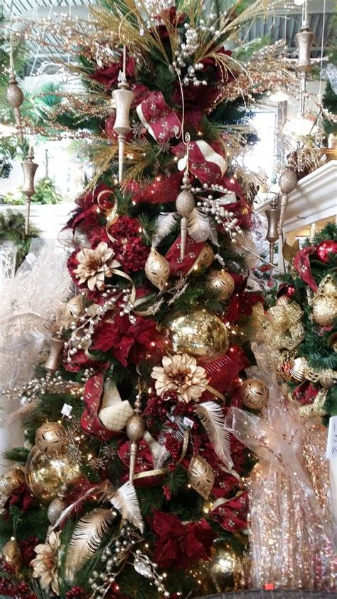 burgundy and gold christmas tree ideas www