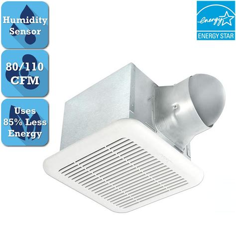 bathroom fan humidity sensor delta breez signature 80 110 cfm adjustable speed ceiling