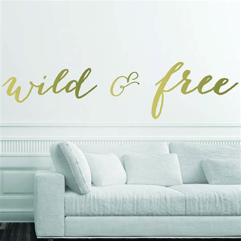 metallic wall stickers and free metallic wall stickers by parkins interiors