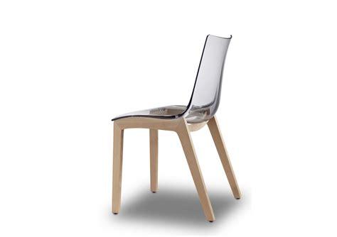 chaise transparentes 2x chaises transparentes design avec pieds bois
