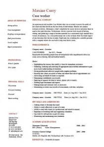 case worker resume social sample example templates