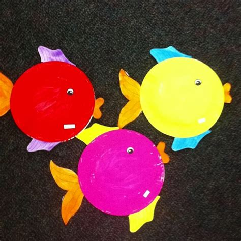 paper plate fish template crafts actvities and worksheets for preschool toddler and