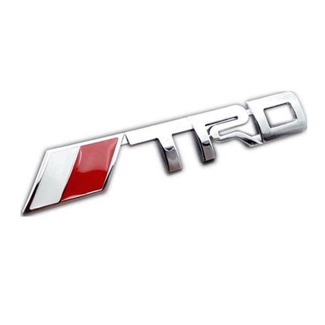 Emblem Logo Trd Kecil for toyota trd emblem badge sticker chrome car trunk decal camry corolla yaris ebay