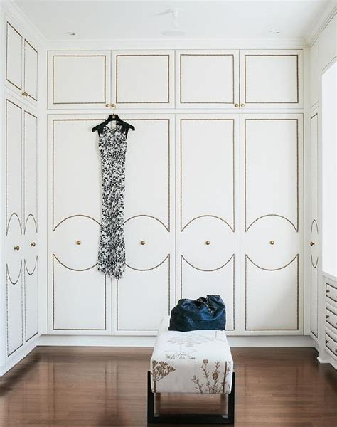 walk in closet doors walk in closet with upholstered wardrobe doors with brass