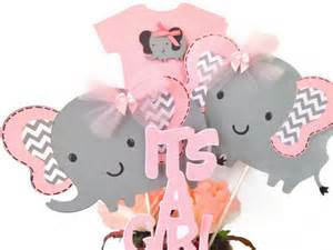 pink and grey elephant baby shower decorations pink and gray elephant baby shower centerpiece pink and