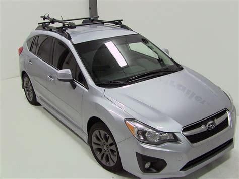 2008 Subaru Impreza Roof Rack by 2008 Subaru Impreza Yakima Forklift Roof Mounted Bike